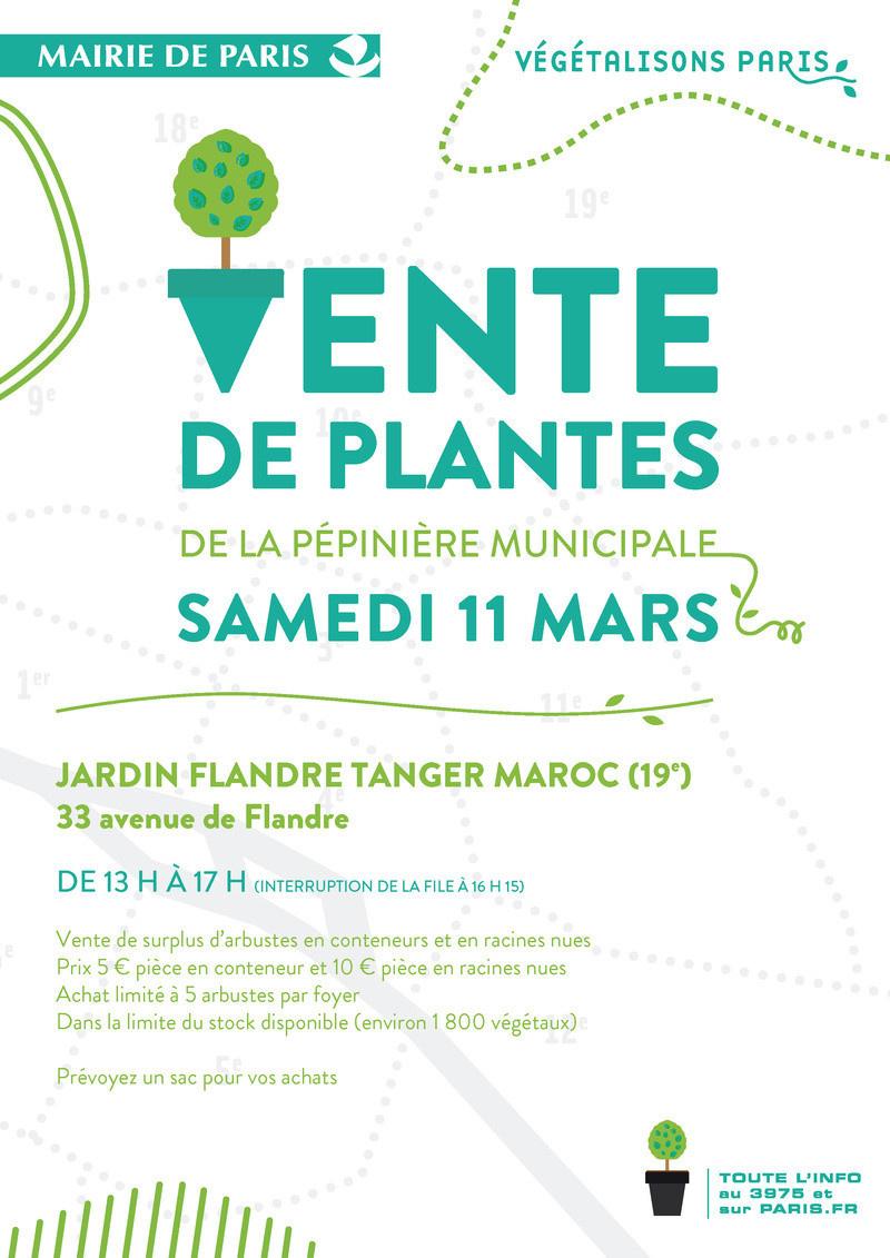 Vente de plantes de la mairie de paris for Ventes de plantes par internet