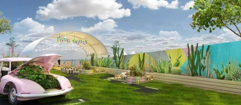 ouverture du jardin suspendu immense rooftop v g tal sur le toit de paris expo porte de. Black Bedroom Furniture Sets. Home Design Ideas