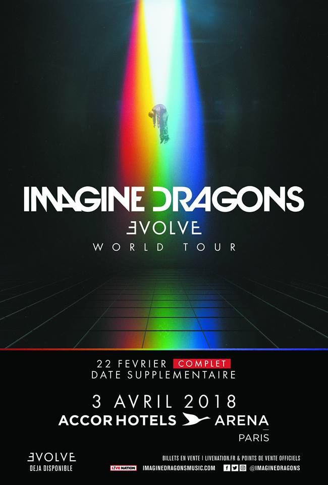 Imagine Dragons en concert à l'Arena Bercy de Paris en février 2018