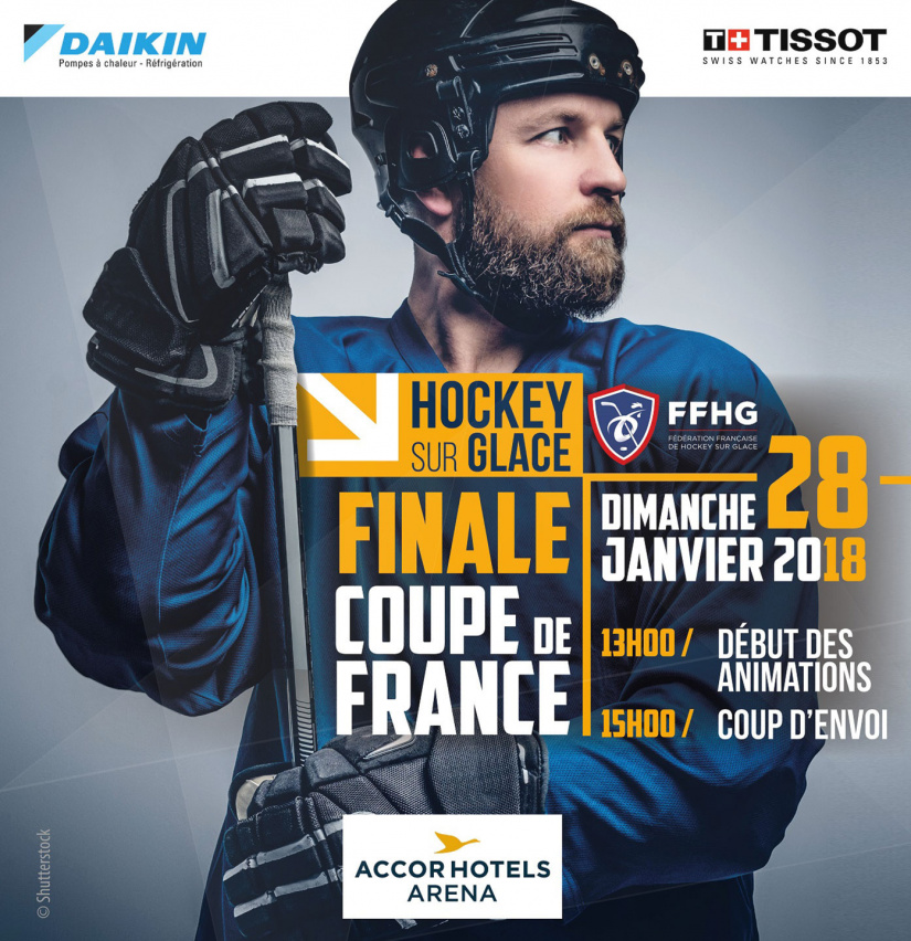 Finale de la coupe de france de hockey sur glace 2018 l accorhotels arena bercy de paris - Final coupe de france hockey 2015 ...