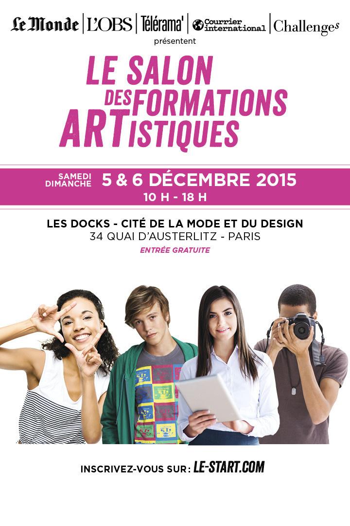 Salon start 2015 le salon pour d couvrir les formations for Salon formation artistique