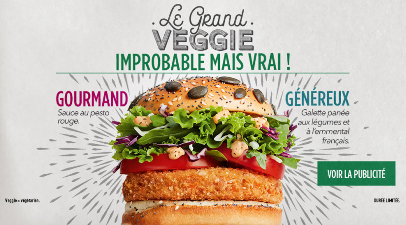 Mc Donalds France lance (enfin) son Burger végétarien : le Grand Veggie