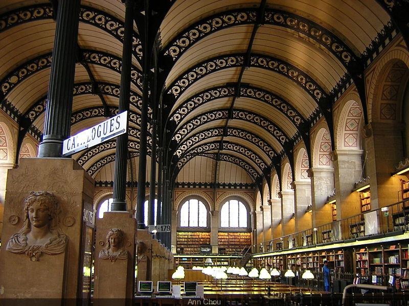 La Bibliothèque Sainte-Geneviève, au coeur du Quartier Latin