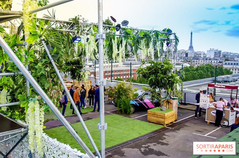 le jardin suspendu immense rooftop v g tal sur le toit de paris expo porte de versailles