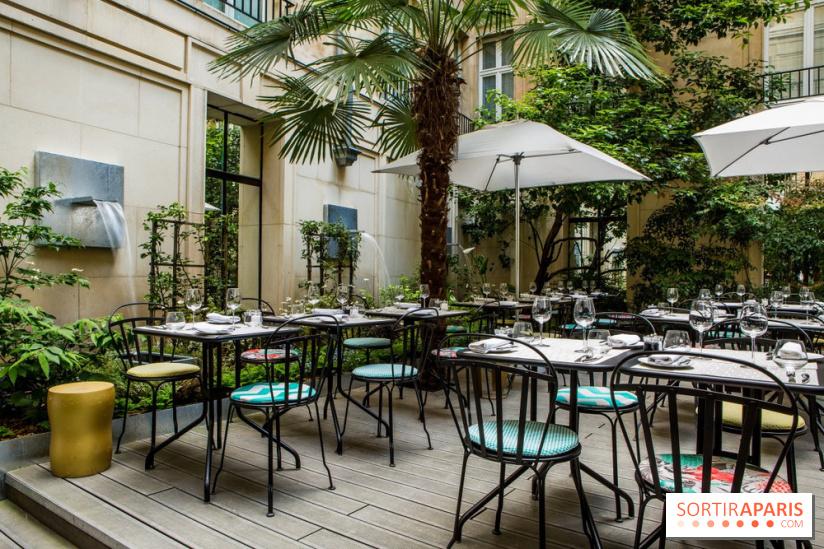 Blossom restaurant jardin du sofitel le faubourg - Au jardin restaurant paris ...