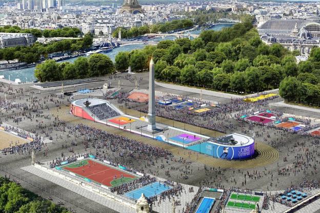 La Journée Olympique 2019 sur la Place de la Concorde à Paris