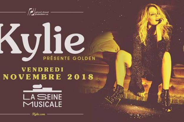 kylie minogue en concert à la seine musicale en novembre 2018