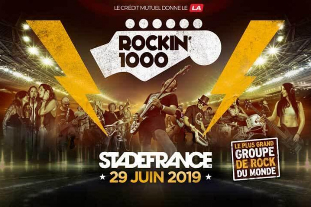 Rockin 1000 Comes To Paris In 2019 Biggest Rock Brand At The Stade
