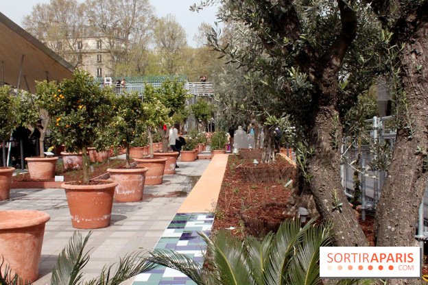 Jardin Dorient A Linstitut Du Monde Arabe Avec Les Enfants - Jardin-arabe
