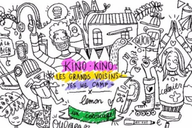Coloriage Chateau Vaux Le Vicomte.Kino Kino Vous Invite A Colorier Les Murs Des Grands Voisins