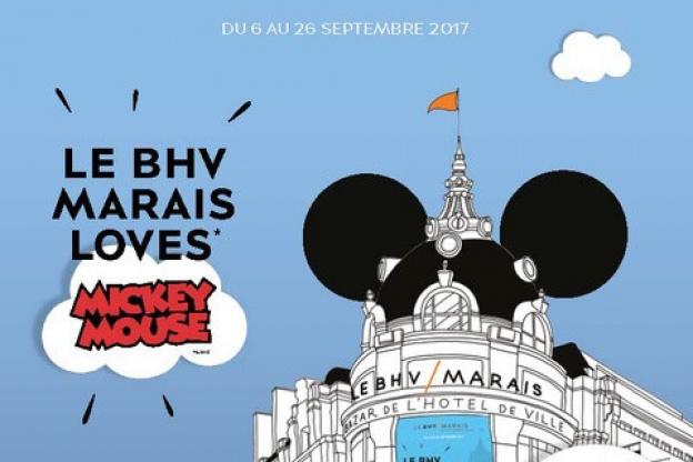 67fe2ae1eb9 ... Le BHV Marais Loves Mickey Mouse