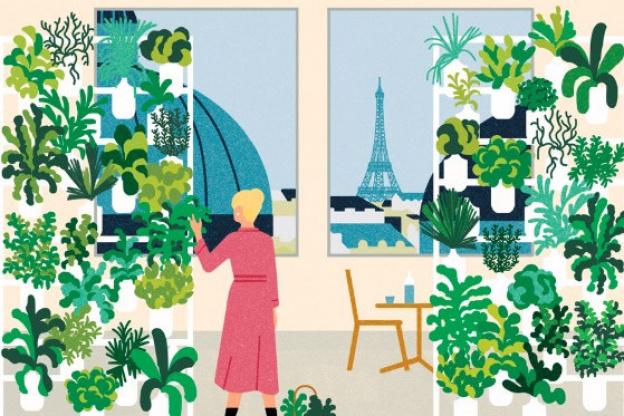 An edible plant wall set at Paris Printemps du Goût - Sortiraparis.com