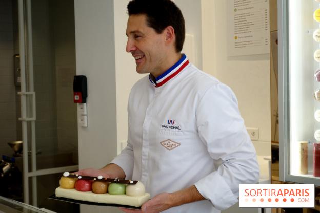 buche de noel 2018 chef Yule log 2018 by David Wesmaël for La Glacerie Paris  buche de noel 2018 chef