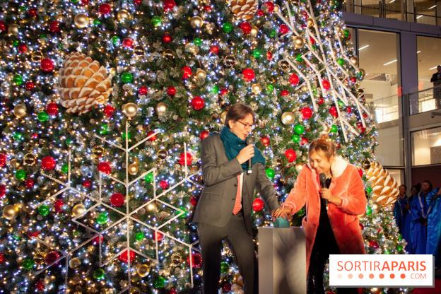 a6c57a97 ... Illuminations de Noël 2018 au Forum des Halles avec Bérangère Krief ...