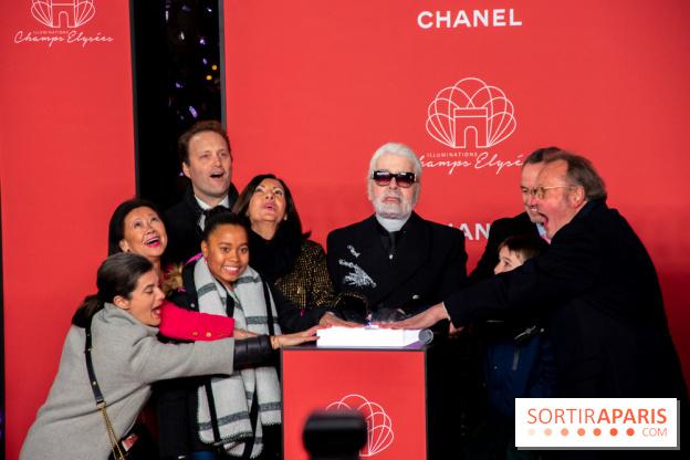 ab81fa77 ... Les Illuminations de Noël des Champs-Elysées 2018 avec Karl Lagerfeld  ...