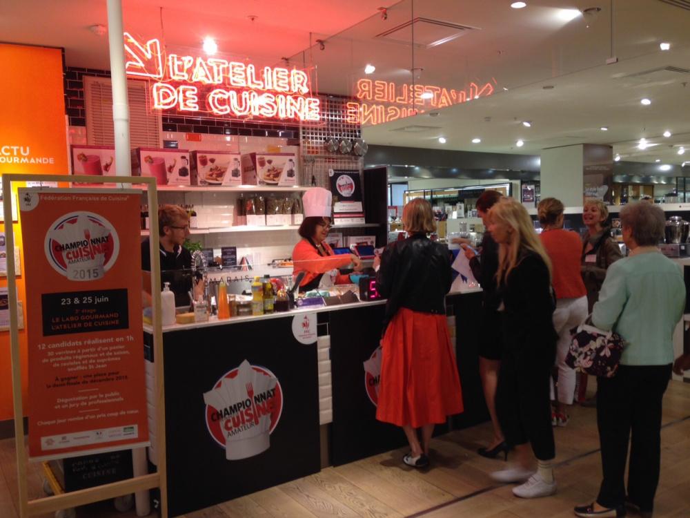 Le bhv accueille une tape du championnat de france de cuisine - Articles de cuisine paris ...