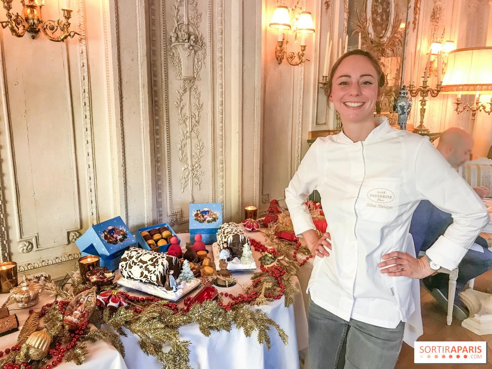 buche de noel 2018 au cafe Yule logs and other Christmas 2018 creations at Café Pouchkine  buche de noel 2018 au cafe