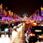 Illuminations des Champs-Elysées 2013 avec Laetitia Casta