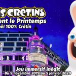 Les Lapins Crétins envahissent le Printemps Haussmann dans un jeu immersif