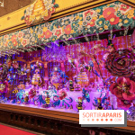 Vitrines et sapin de Noël au Galeries Lafayettes 2019 avec Virginie Efira - photos