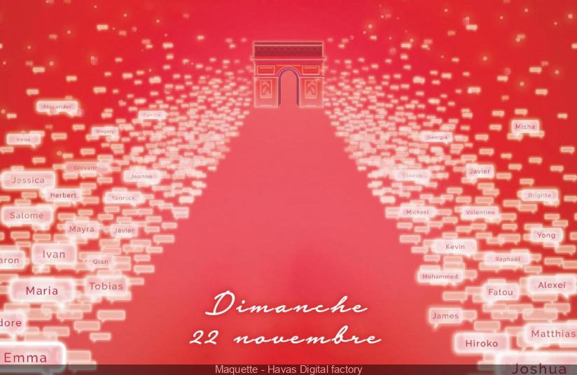 Les Illuminations de Noël des Champs-Élysées 2020 en virtuel, avec Louane
