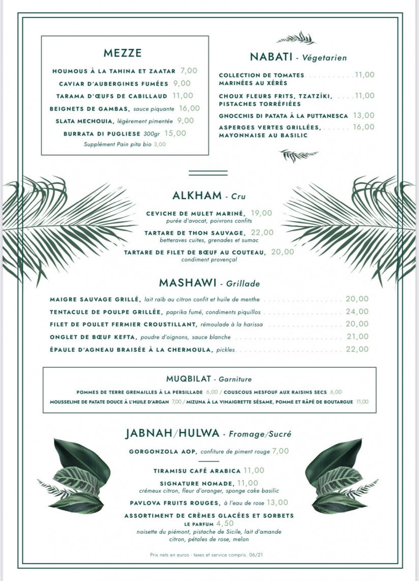 Manzili, le restaurant de Mohamed Cheikh,Top Chef 2021, au Jardin des Plantes