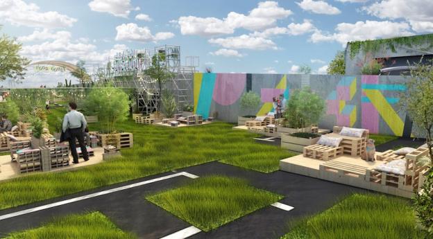 Opening Of The Jardin Suspendu The Huge Green Rooftop Of Paris Expo