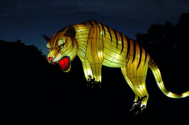 Espèces en voie d'illumination, le premier festival des lumières du Jardin des Plantes