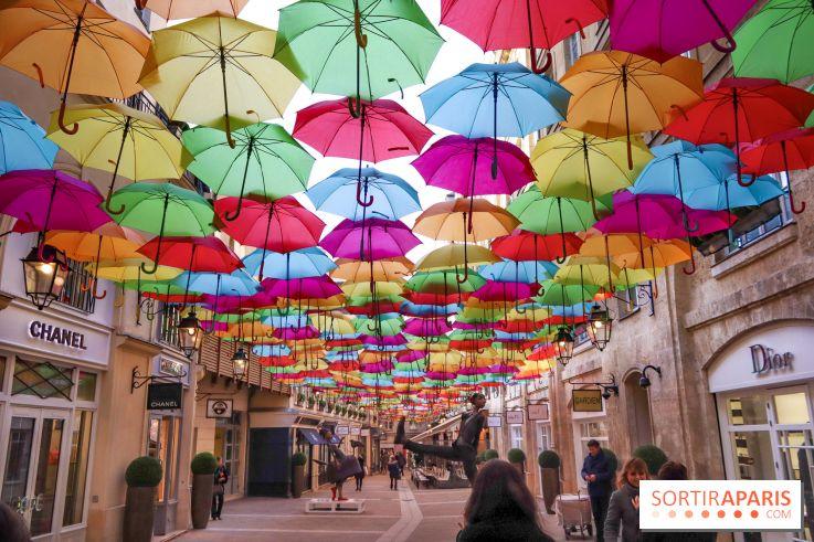 Umbrella Sky Project Patricia Cunhas Colorful Umbrellas In