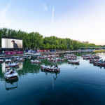 Photos du cinéma sur l'eau de Paris Plages
