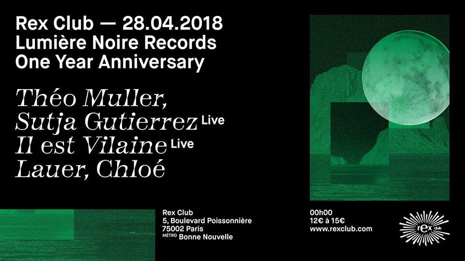 Lumiere Noire 1st Year Anniversary Au Rex Club