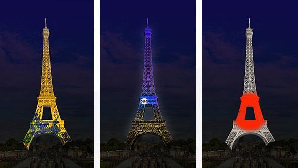 Japonismes 2018 The Eiffel Tower Displays Japans Colors
