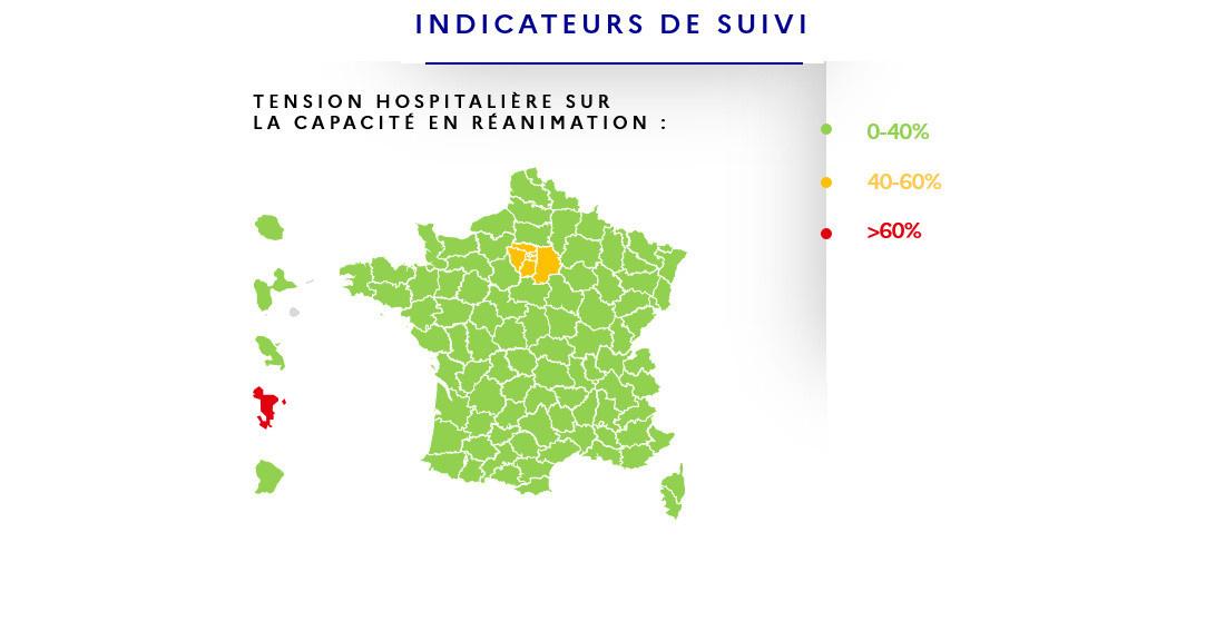 Deconfinement Map By Department Metropolitan France In Green Sortiraparis Com