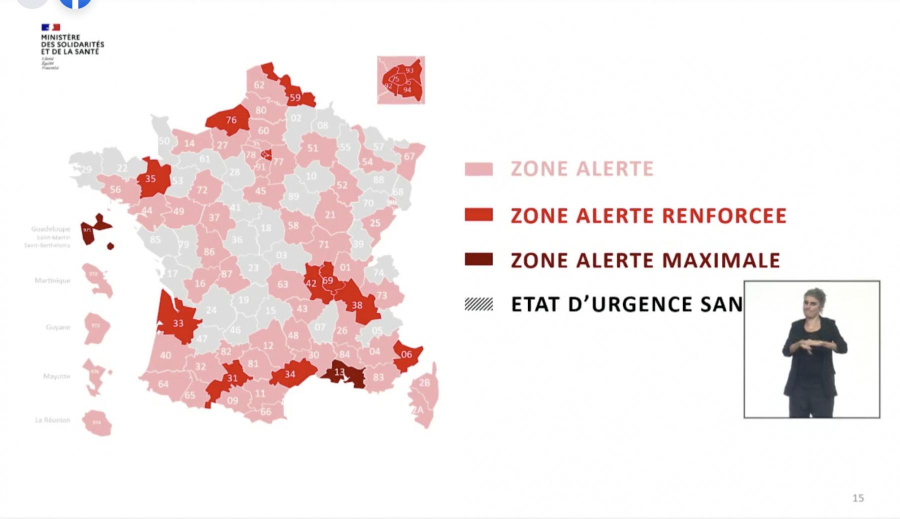 France - Bilan de la pandémie au 23 septembre et nouvelle cartographie du virus.... 588400-carte-de-france-covid-le-23-septembre-90-departements-en-situation-de-vulnerab-2