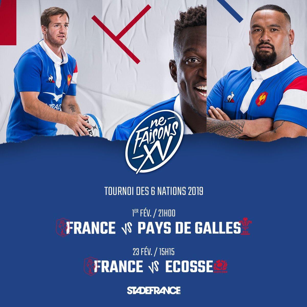 Calendrier Du Tournoi Des 6 Nations.Tournoi Des 6 Nations 2019 France Pays De Galles Le 1er