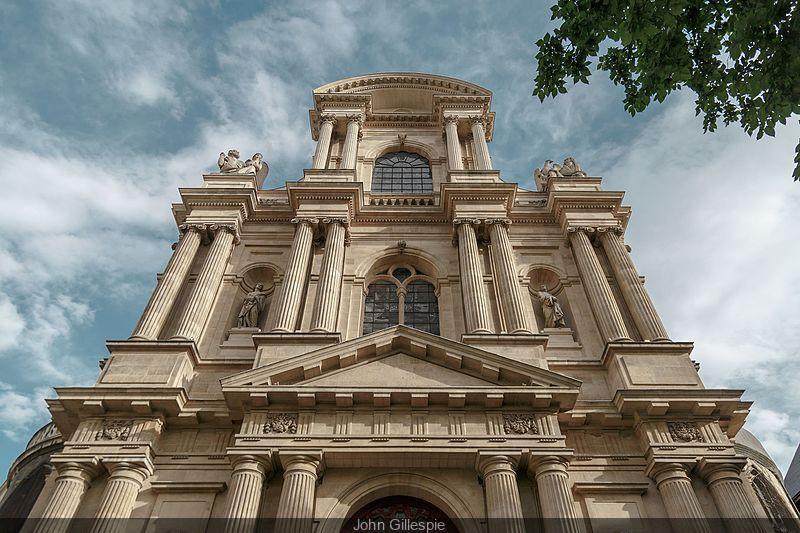 The Church of Saint-Gervais-Saint-Protais in face of Paris