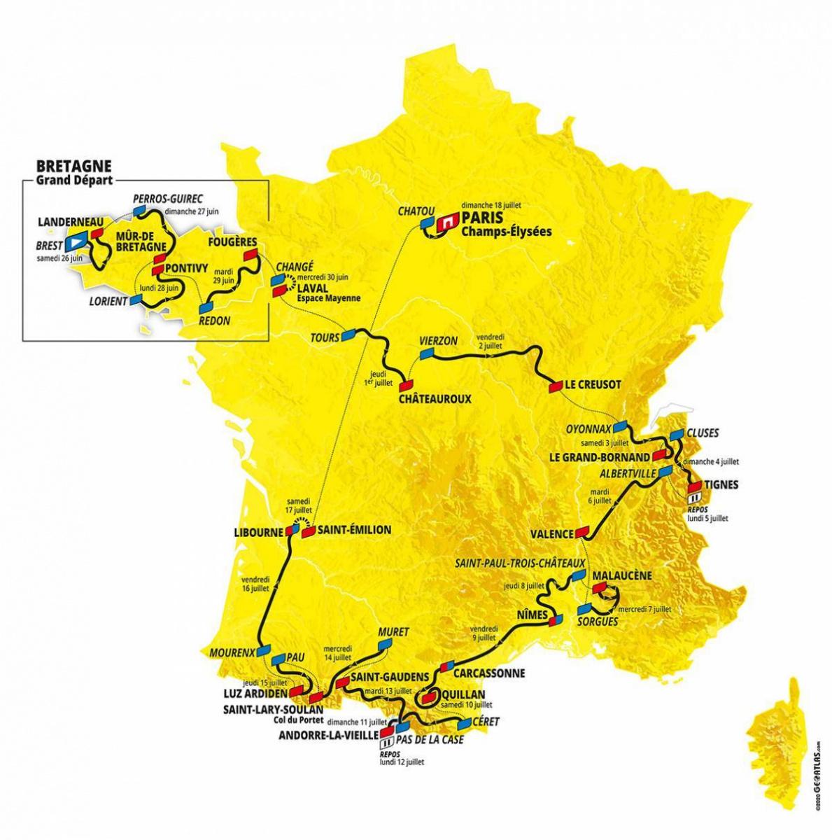Tour De France 2021 Le Parcours Devoile Sortiraparis Com