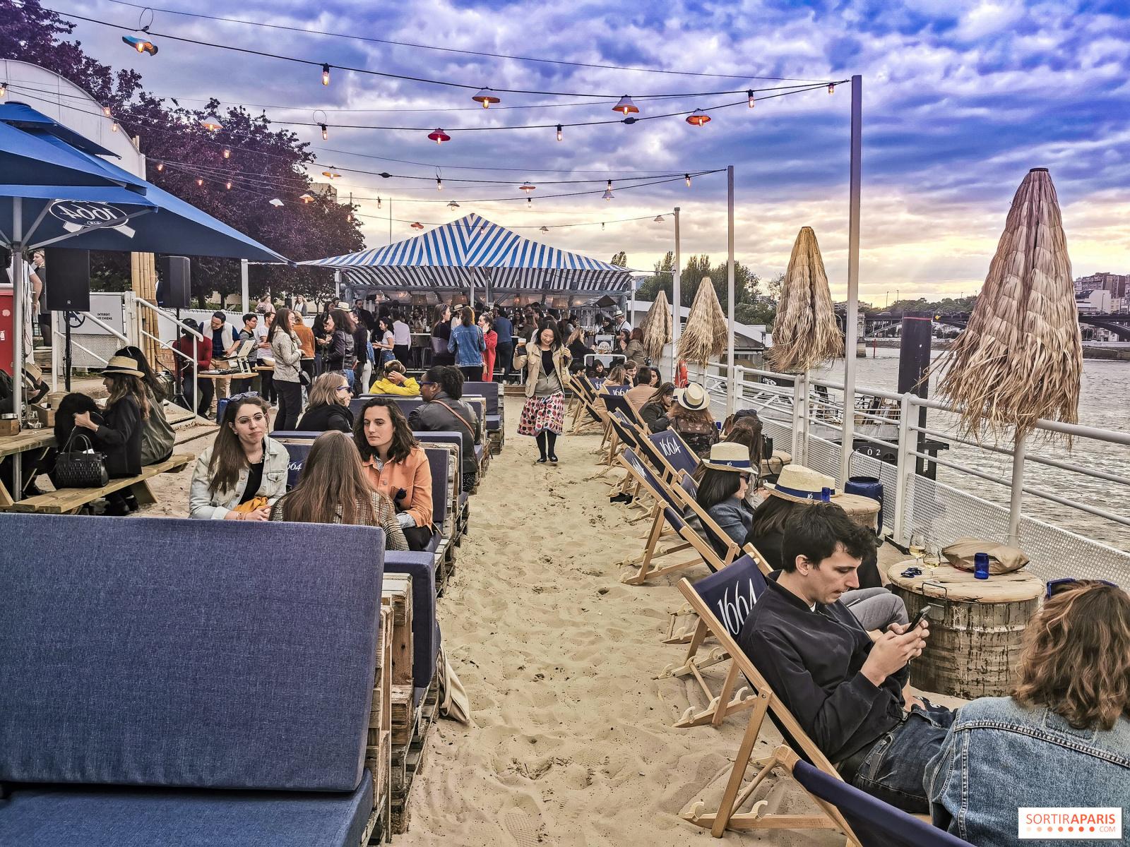 Terrasse Canal Saint Martin polpo plage: the sand-set terrace in paris - sortiraparis
