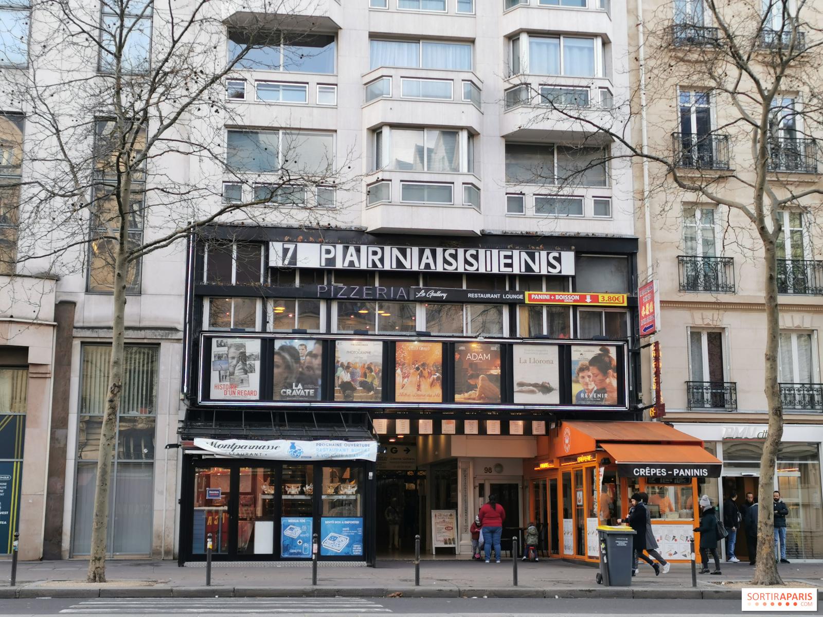 Le cinéma les 10 Parnassiens dans le quartier de Montparnasse
