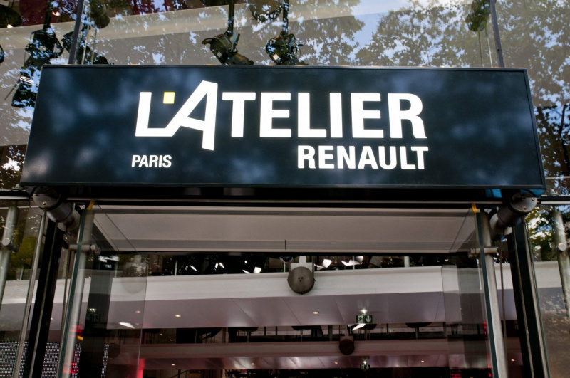 photo atelier renault exposition restaurant bar lounge voitures lectriques l 39 atelier renault. Black Bedroom Furniture Sets. Home Design Ideas