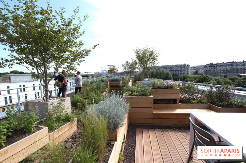 Villa Molitor Terrasse : Photo Molitor terrasse rooftop, jardins Molitor