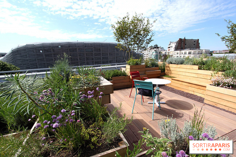 Photo molitor terrasse rooftop jardins molitor for Rooftop piscine molitor
