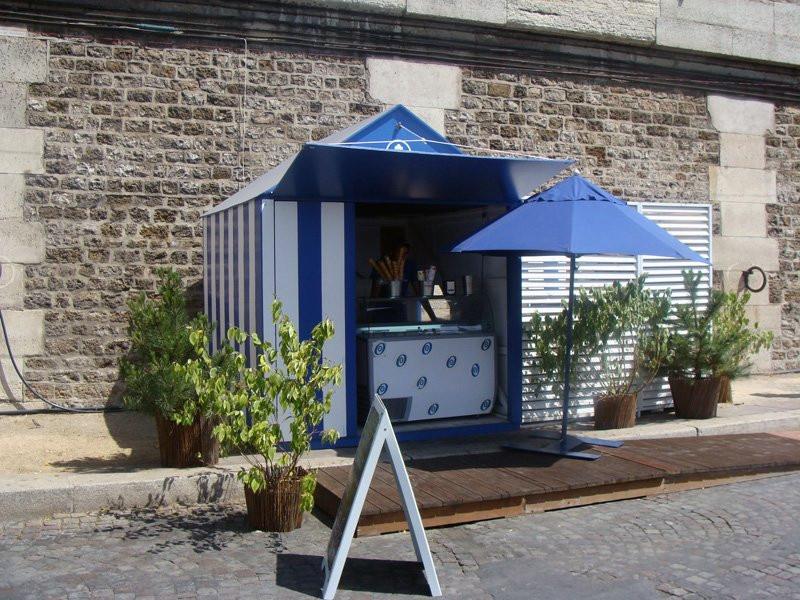 Photo marchand de glaces paris plage sur les bords de seine paris plages 2008 quai de seine - Piscine plage paris asnieres sur seine ...