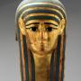 Grand masque funéraire Cartonnage doré et peint, 36 cm (H) Collection particulière © D.R. / Paul Louis