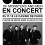 Of Monsters And Men en concert au Casino de Paris en novembre 2015